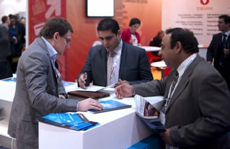 Meeting at exhibition