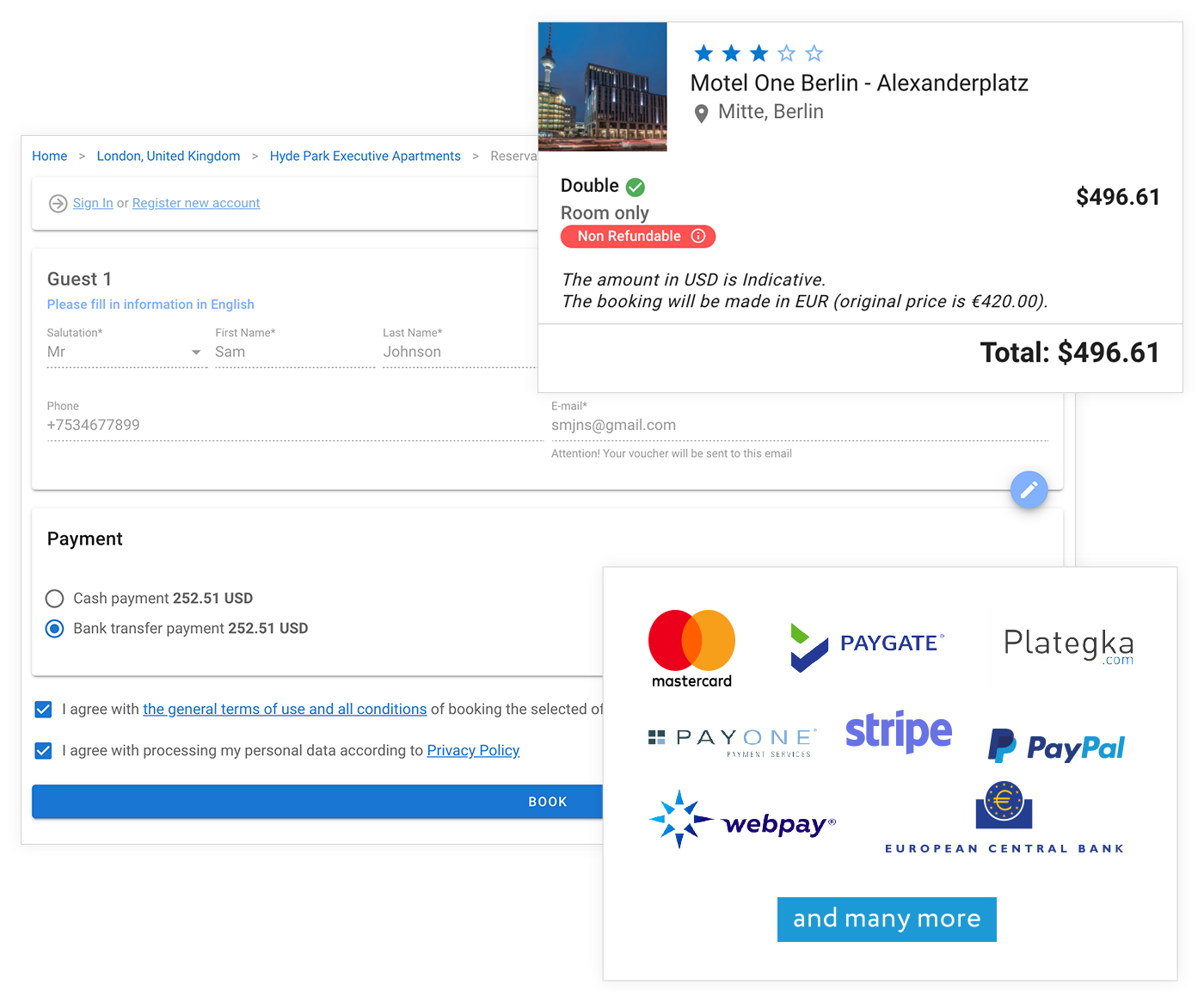 Quick and Easy Self-Booking and Payment