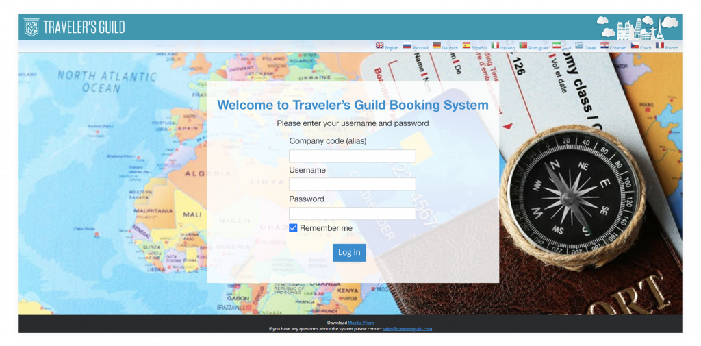 TG booking system