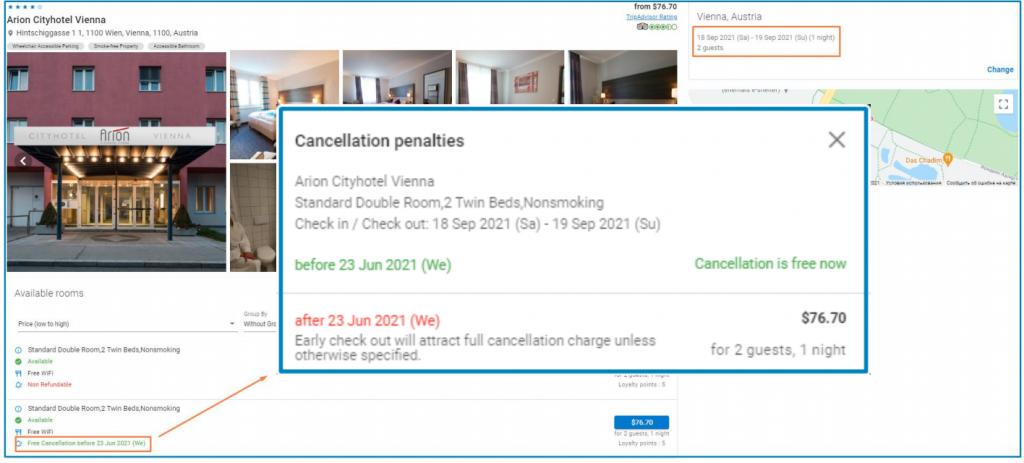 Cancellation Penalties